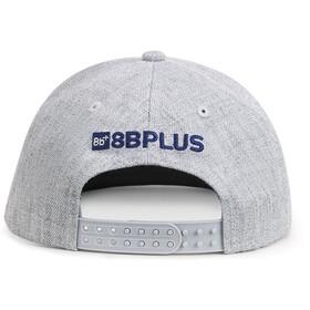 8BPLUS Logo Gorra, grey melange/navy